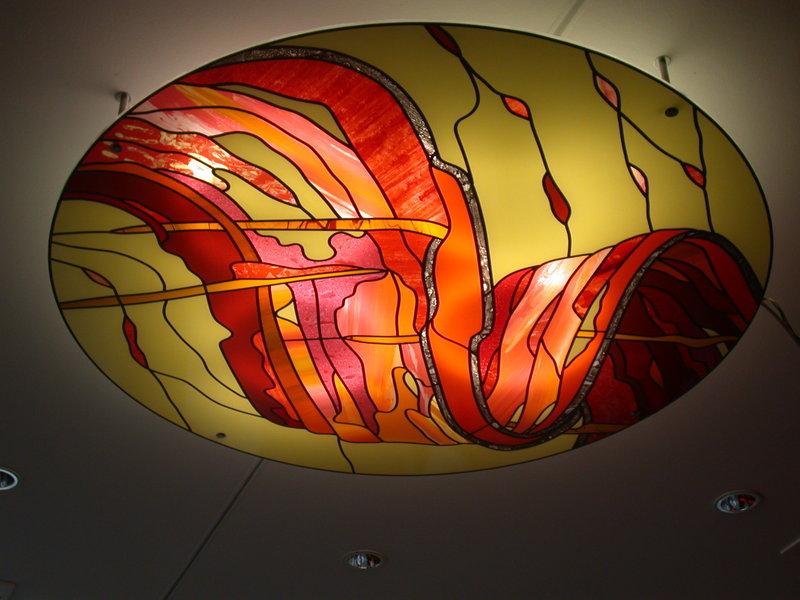 Moderne glasmalerei technik kaltglasfarben eingebrannte for Glasbilder modern art